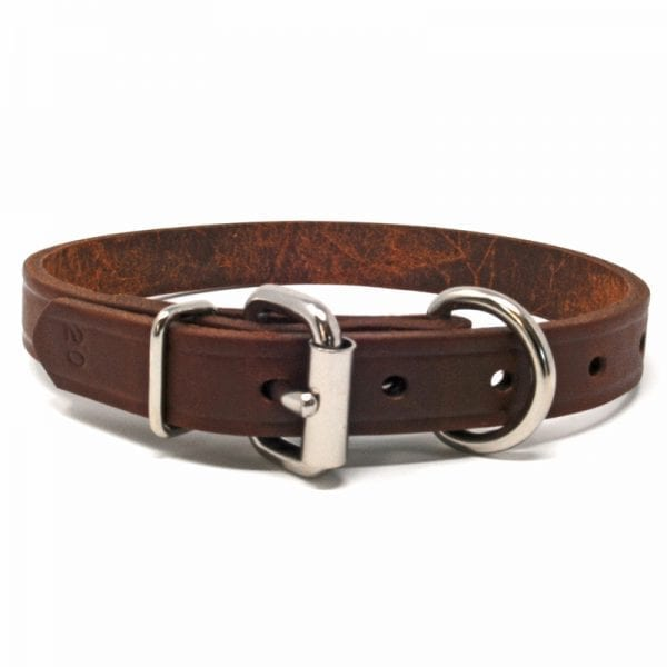 3/4 Inch Leather D-End Collar