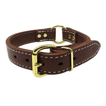 Leather Dog Collars with free nameplates