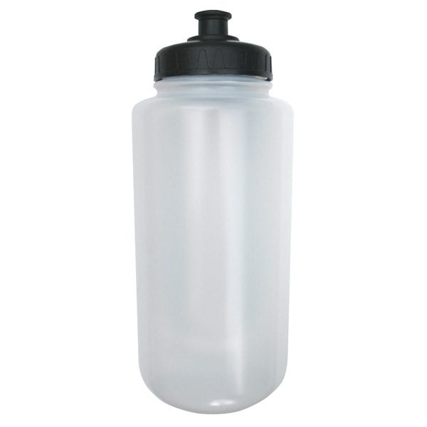 The 32 Ounce Water Bottle by A&R Sports is made of a clear BPA free plastic and has a push-pull wide mouth top.